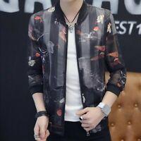 Chic Men Summer Coats Zipper Slim Fit Sun-proof Long Sleeve Youth Korean Jackets