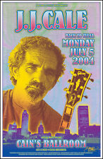 J. J. CALE in Tulsa 2004 Cain's Ballroom Original Signed Concert Poster JJ