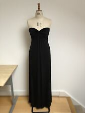 Ted Baker London Size 2 Uk 8/10 Long Black Evening Gown Dress New w/o Tag Lined