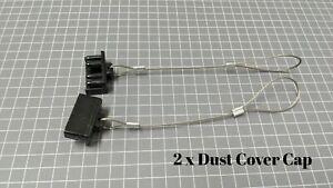 2 x Dust Cap Black Anderson Plug Cover Style Connectors 120AMP Battery Caravan