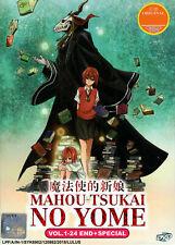 Mahou Tsukai No Yome (1-24) Ancient Magus Bride | USA Ship | English Audio (DVD)