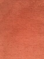 Warm Terracotta Chenille Textured Upholstery Fabric Material 140cm wide No.165
