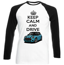 MINI COPPER BLUE INSPIRED KEEP CALM - NEW COTTON TSHIRT - ALL SIZES IN STOCK