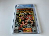 MARVEL FEATURE 7 CGC 9.8 WHITE PAGES RED SONJA BATTLES CONAN MARVEL COMICS 1976