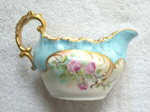 ANTIQUE LIMOGES HAND PAINTED CREAMER circa 1897