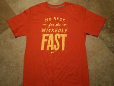 *NWOT Nike Regular Fit Short Sleeve Graphic Tee Shirt Cotton Orange L
