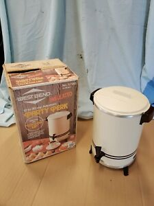 Vintage WEST BEND Party Perk 12 to 30 Cup Automatic Coffee Pot 57130 Almond USA!