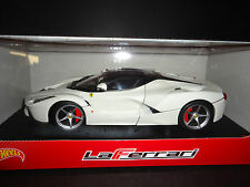 Hot Wheels Ferrari LaFerrari 2013 White BLY54 1/18