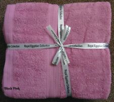Blush Pink - Egyptian Cotton Hand Towels x 3 - Brand New