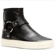 NIB Lena Frye Harness Booties Size 9.5 Black ankle Boots High Top Sneakers Boot
