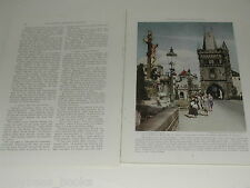 1938 magazine article CZECHOSLOVAKIA color pics people history, BATA shoes