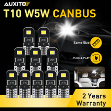 10X CANBUS 6000K Xenon White T10 168 194 Interior/License Plate LED Light Bulb