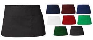 1/2 Half apron waiter/waitress apron +2 front pocket Cotton Bar Cafe 100% cotton
