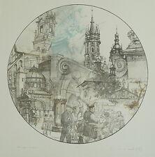 Welski, Alf (1926-2007) - Hommage à Karakow Farbradierung 1983  1/100