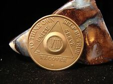Alcoholics Anonymous AA 8 year Bronze Medallion Coin Chip Token Sobriety Sober