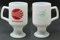 Vintage 1960's Continental North Central Airlines Pedestal MUG White Milk Glass