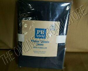Pottery Barn Teen Set 2 Classic Bed Dorm Pillow Cases Standard Black 5% Organic