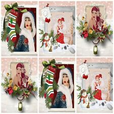 DREAMING OF A WHITE CHRISTMAS   Embellishments, Card Making Toppers,Card Toppers