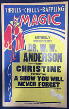 Original Dr. W.W. Anderson Window Card