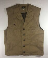 Wyoming Traders Western Cotton Canvas Vest Mens M Lined Silver Button Up Pockets