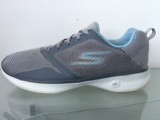 SKECHERS 'GOwalk 4 Edge' GREY/LIGHT BLUE Trainers - WOMENS - Size UK 8