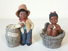 Vintage 2 Martha Holcombe Betsy #77A & Moses #40 Figures All God's Children
