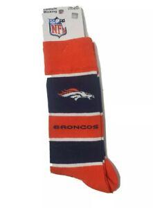 NFL Denver Broncos Unisex Adult Long Dress Socks New Orange & Black
