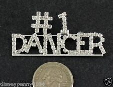 Mother Grandmother-Clear Rhinestones-2 inches #1 Dancer Pin-Proud Dedicated