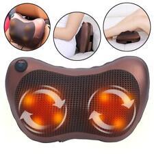 Electric Shiatsu Massage Pillow Massager Cushion Neck Back Shoulder Body Relief
