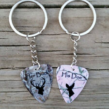REALTREE camo Her Buck and His Doe Guitar Pick Keychains couples browning deer