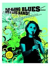 Clarinet Play-Along Blues With A Live Band Music Book & CD Backing Tracks New