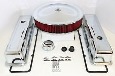 SBC Chrome Engine Dress Up Kit Tall Valve Covers Washable Air Cleaner 58-79 350