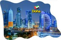 Doha Katar Emirate Fridge Magnet Flagge Fahne Epoxid Reise Souvenir