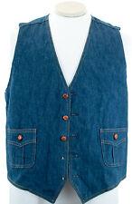 Vintage Separate-Lees by Lee Denim 100% Cotton Vest 5 Button Waist Coat Sz 44 R