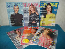 SEW TODAY MAGAZINES - 6  ISSUES 2016 - VOGUE PATTERNS, BUTTERICK, KWIK SEW...