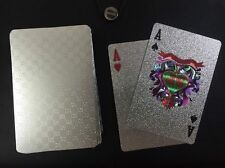 SILVER G DESIGN POKER PLAYING CARD