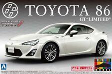 """Aoshima 1/24 Toyoya'86 GT"""" """"LIMITADA SATÉN BLANCO PRE-PINTADO Modelo Kit # 010051"""