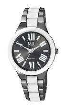 Q&Q by Citizen F521-408Y Women's White & Black Tone Dress Watch ~ GREAT GIFT