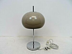 Vintage Mid Century Style Mushroom Brown/Chrome Table Lamp  G7