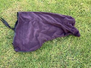 Ecotak Pull on Polar Fleece Horse Neck Rug - brown Full Ecotak