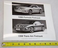 Original 1998 SLP Engineering 8x10 Firehawk Glossy Image used for Media/Press