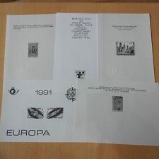 Belgien, Belgium - 10 Schwarzdrucke blackprint !
