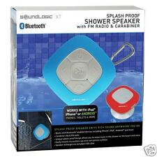 SOUNDLOGIC Wireless-Bluetooth-Waterproof-Shower Speaker-FM Radio ipod-ipad BLUE