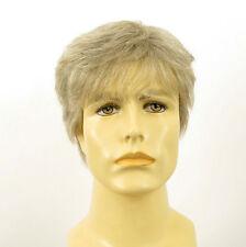 Perruque homme 100% cheveux naturel blanc méché gris ref JAMES 51