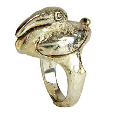 Whimsical Walter Schluep Figural Sterling Silver Pelican Ring