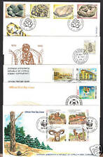 CYPRUS 1998 COMPLETE YEAR SETS OFFICIAL + UNOFFICIAL FDC's