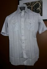 Mens Vintage Champion Westerns Pearl Snap Western Shirt Dan Rivers Fabric