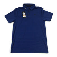 Under Armour Mens Polo Shirt Loose Golf Heatgear Blue Striped Variety Sizes