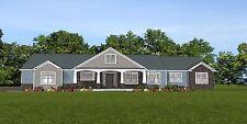 Custom Home House Plan 2,470 SF Ranch w/Basement & 3 Car Garage Blueprint #1324