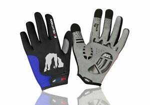RocRide Evolution Cycling Gloves with Sensory Gel Padded Protection. Full-Finger